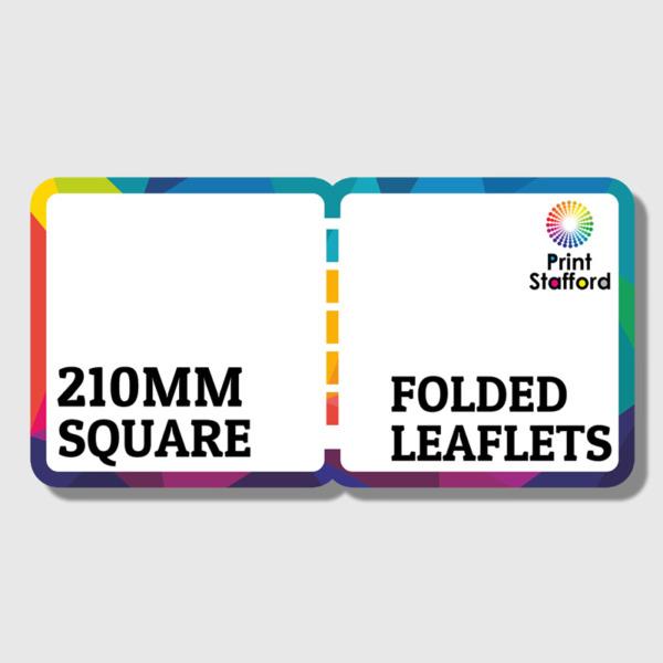210mm Sq Folded Leaflets