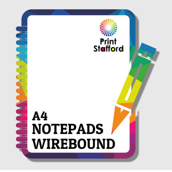 A4 Wirebound notepads