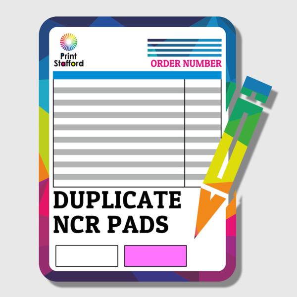 DUPLICATE NCR PAD PRINTING