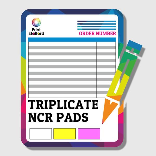 TRIPLICATE NCR PAD PRINTING