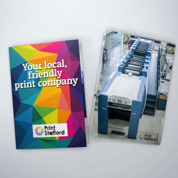 stapled-books or brochure