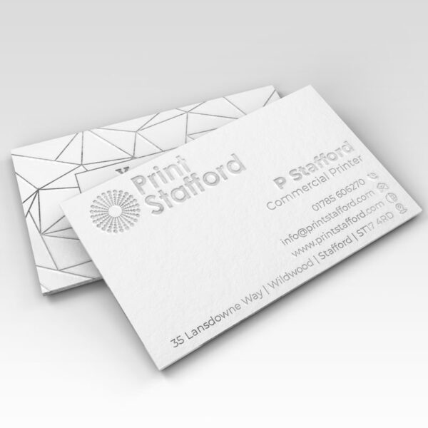 Foil Business Cards Silver