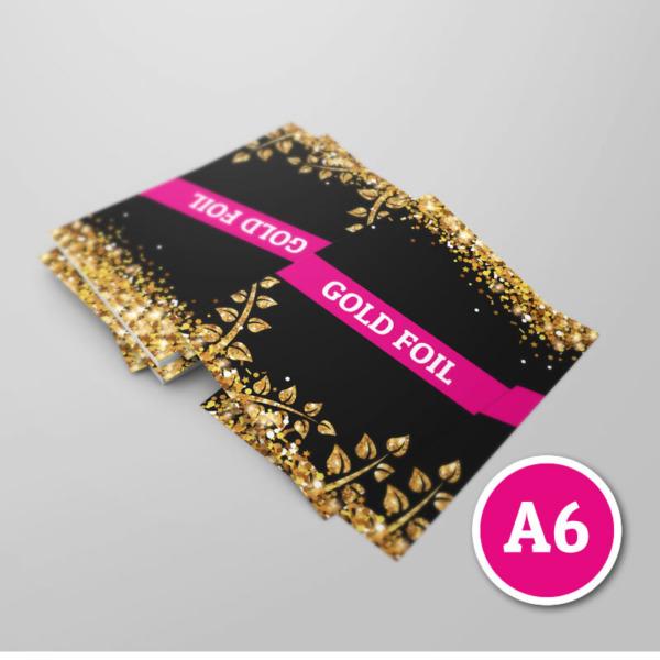 a6 gold foil