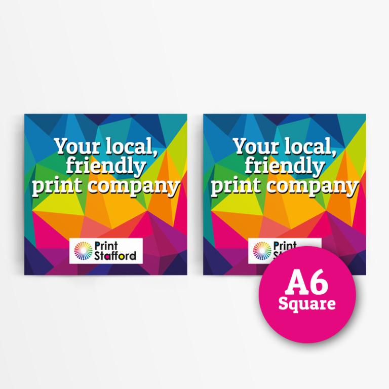 A6 Square Laminated Leaflets