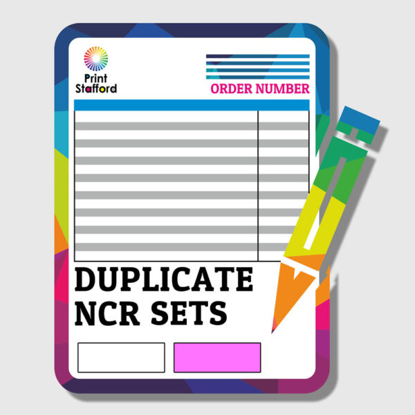 DUPLICATE NCR SETS PRINTING