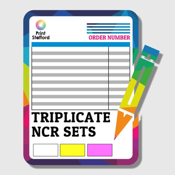TRIPLICATE NCR SETS PRINTING
