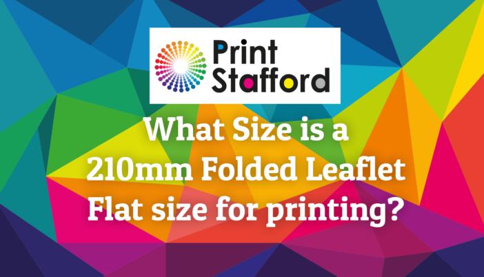 210mm folded leaflet