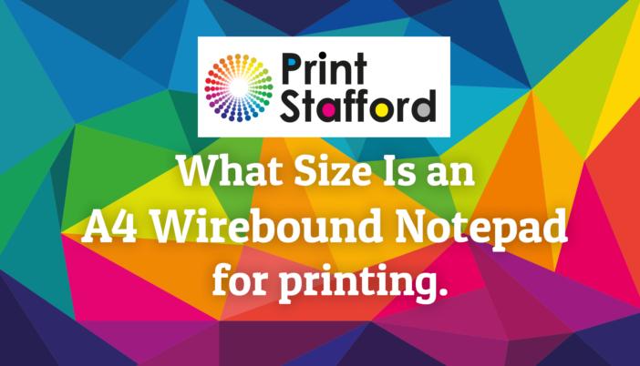 A4 wirebound notepad size