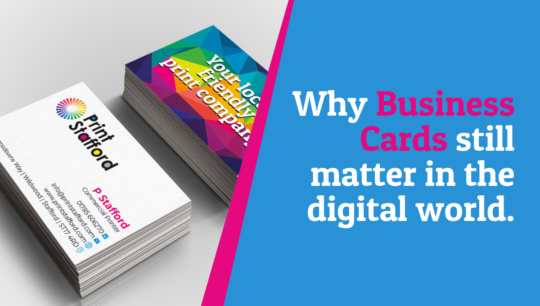 Why business cards still matter in the digital world.